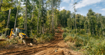 A road used by loggers. Greenpeace volunteers document timber logging operations in Făgăraș Mountains, Romania, to draw attention on immoral and illegal logging occurring in the last ancient forests in Romania.