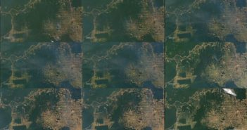 Déforestation de l'état de Rondonia (Amazonie) de 2000 à 2008. Crédit photo: NASA/Goddard Space Flight Center
