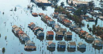 Habitations sinistrées après l'ouragan Katrina
