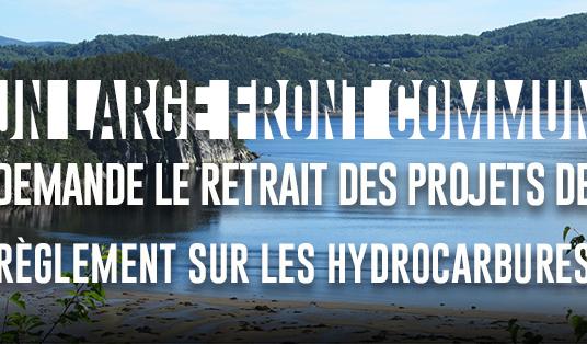 Au Québec, un large front commun demande le retrait des projets de règlement sur les hydrocarbures