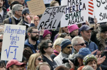 Members of the scientific community, environmental advocates, and supporters demonstrate Sunday, Feb. 19, 2017, in Boston, to call attention to what they say are the increasing threats to science and scientific research under the administration of President Donald Trump. (AP Photo/Steven Senne)/MASR104/17050679740953/1702192022