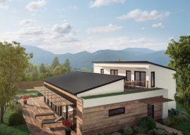 Les premières maisons solaires usinées nettes zéro